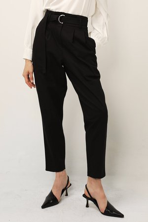 Mia Belted Tapered Pants   Women's Pants   storets