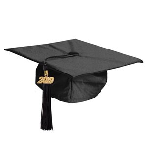 Graduation Cap and Tassel Set - Black