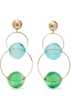 Rosantica   Bolle glass and gold-tone clip earrings   NET-A-PORTER.COM
