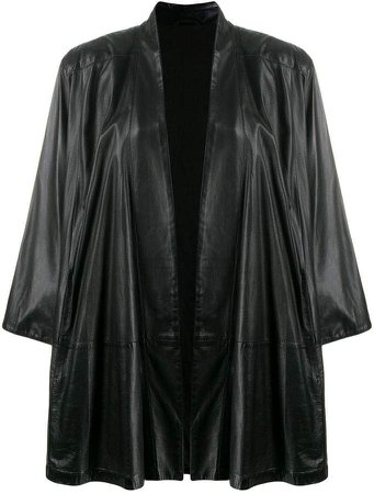 Pre-Owned oversized open coat