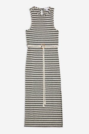Knitted Belt Dress   Topshop white