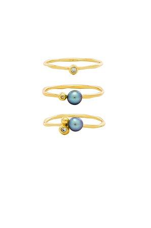 Vienna Shimmer Ring Set