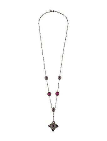 Alexander McQueen Medallion Lavalier - Necklaces - ALE59547 | The RealReal