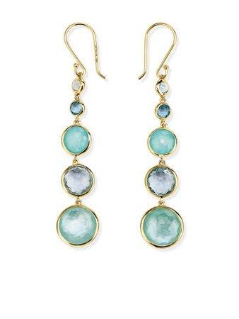 Ippolita 18Kt Yellow Gold Long Lollipop Lollitini 5 Stone Drop Earrings Ss20 | Farfetch.com