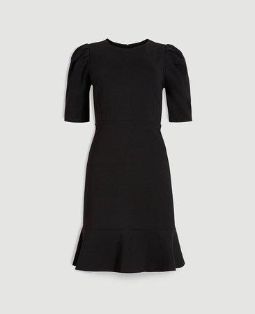 Ponte Puff Sleeve Sheath Dress | Ann Taylor