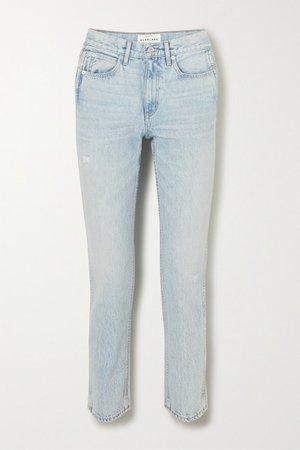 Virginia High-rise Straight-leg Jeans - Light denim