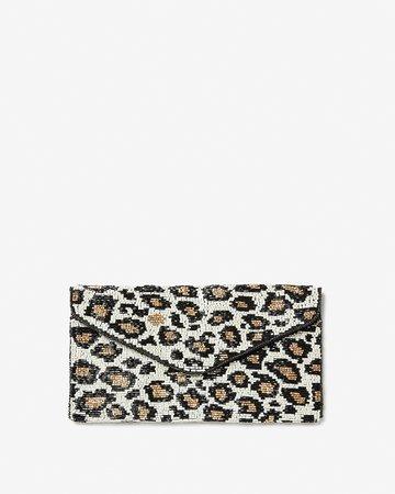 Beaded Leopard Clutch | Express