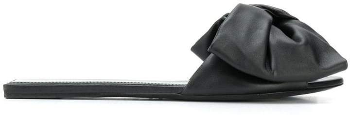 bow-embellished slides