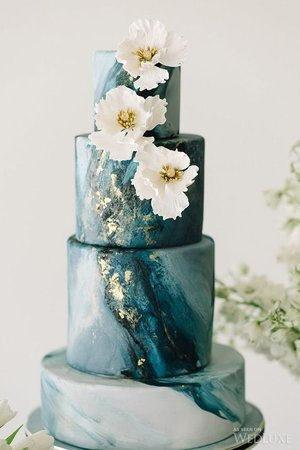 a-marble-beach-wedding-cake-in-blue-shades-with-gold-leaf-and-sugar-flowers.jpg (564×846)