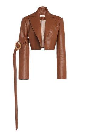 Cropped Faux Leather Blazer by MATÉRIEL | Moda Operandi