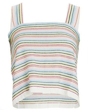 Solid & Striped Leila Striped Knit Tank Top | INTERMIX®