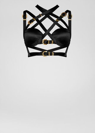 Versace Leather Bondage Top for Women | US Online Store