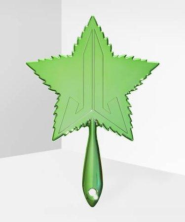 Jeffree Star Cosmetics Green Leaf Chrome Hand Mirror - at BEAUTY BAY