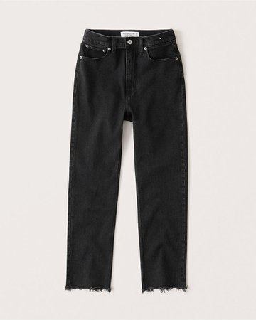 Women's Ultra High Rise Ankle Straight Jeans | Women's New Arrivals | Abercrombie.com
