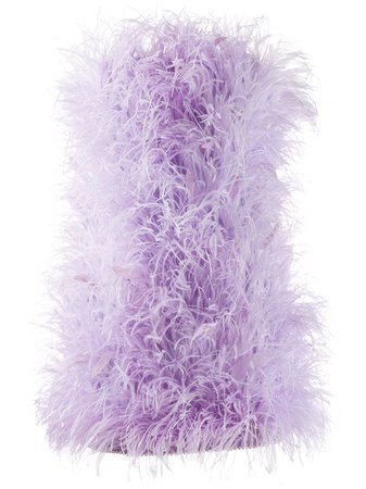The Attico Ostrich-Feather Mini Dress Ss20 | Farfetch.com