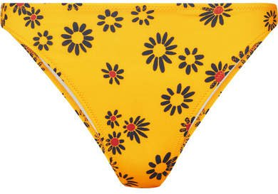 The Tati Floral-print Bikini Briefs - Yellow