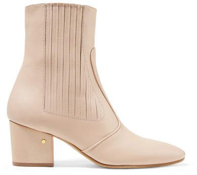 Ringo Leather Ankle Boots - Beige