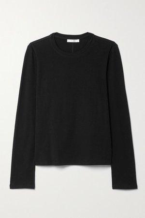 Sherman Cotton-jersey Top - Black