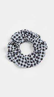 GANNI Stripe Cotton Scrunchie | SHOPBOP