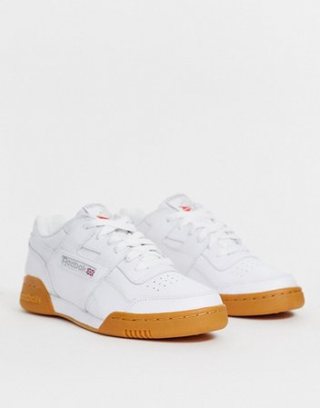 Reebok Workout sneakers in white with gum sole | ASOS