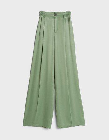Satin pants - Pants - Woman   Bershka