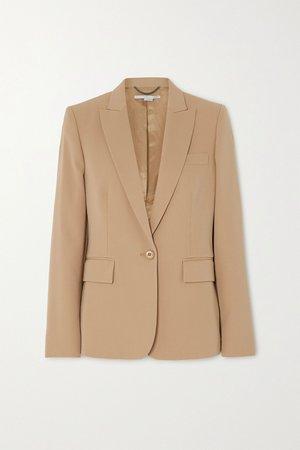 Beige Wool-blend twill blazer | Stella McCartney | NET-A-PORTER