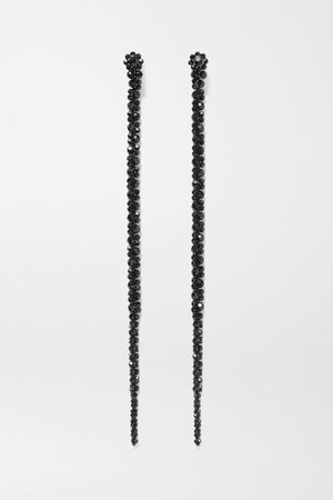 Black Drip crystal earrings | Simone Rocha | NET-A-PORTER