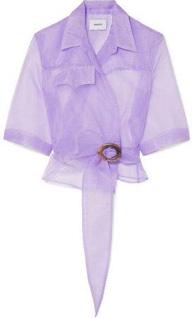 Dalas Organza Wrap Shirt - Lilac