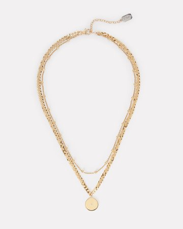 Ela Rae Layered Chain-Link Necklace | INTERMIX®