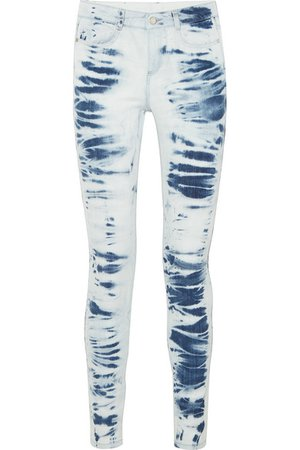 Stella McCartney | Jean skinny taille haute tie & dye | NET-A-PORTER.COM