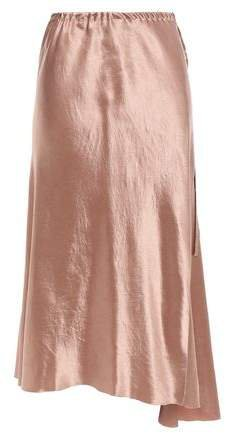 Asymmetric Crinkled-satin Skirt