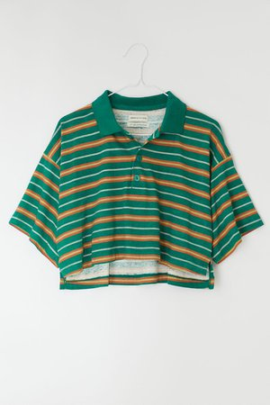 UO Preston Boxy Cropped Polo Shirt | Urban Outfitters