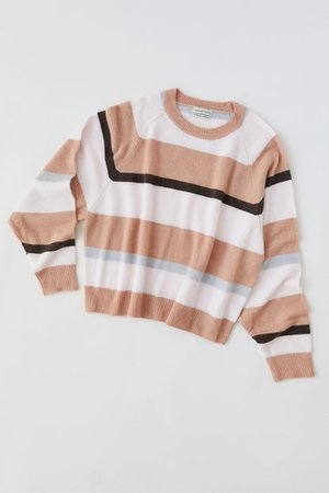 UO Heidi Striped Crew Neck Sweater | Urban Outfitters