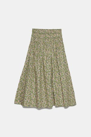PRINTED SKIRT | ZARA United States green
