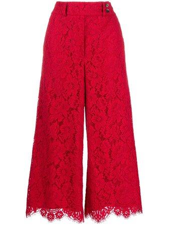 Pt01 Lace wide-leg Cropped Trousers - Farfetch