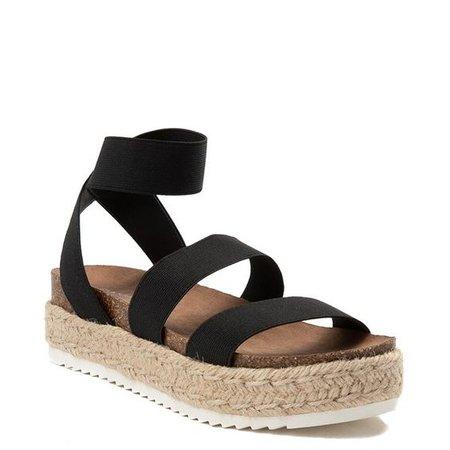 Sandals Black Beige Flat Summer