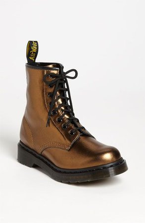 Dr. Martens '1460' Bronze Leather Boot