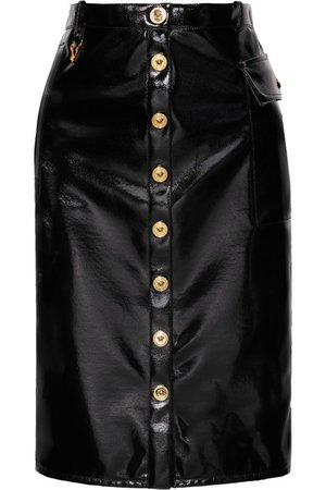 Versace | Vinyl midi skirt | NET-A-PORTER.COM