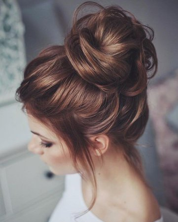 Messy bun uploaded by Just a gypsy soul on We Heart It