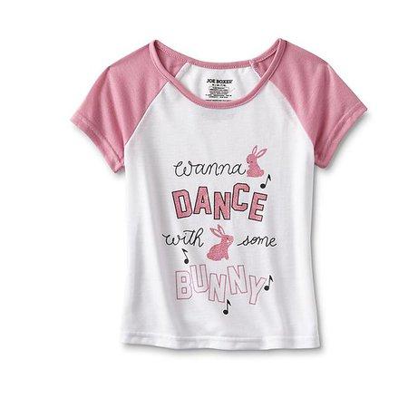 Joe Boxer Girls' Pajama Top & Pants - Wanna Dance with Some Bunny