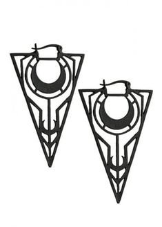 Moon Triangle Gothic Earrings
