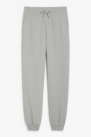 Sweatpants - Cobblestone grey - Trousers & shorts - Monki WW