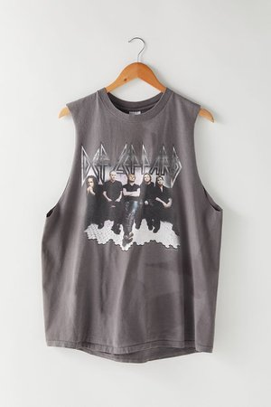 Vintage Def Leppard Muscle Tee   Urban Outfitters