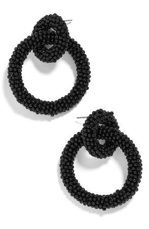BaubleBar Emma Beaded Hoop Earrings | Nordstrom