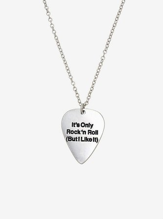 The Rolling Stones Guitar Pick Necklace