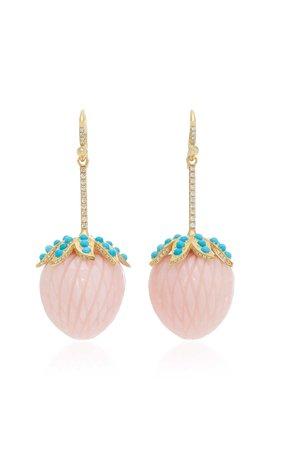 Pink Opal Strawberry Earrings by Irene Neuwirth | Moda Operandi