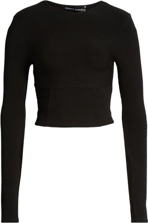 Snatched Bustier Long Sleeve Crop Top