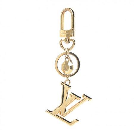 LOUIS VUITTON LV Facettes Bag Charm Key Holder Gold 417711
