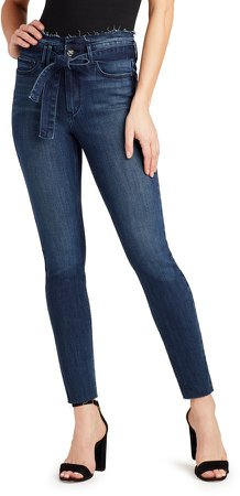 The Stiletto Belted Ankle Skinny Jeans