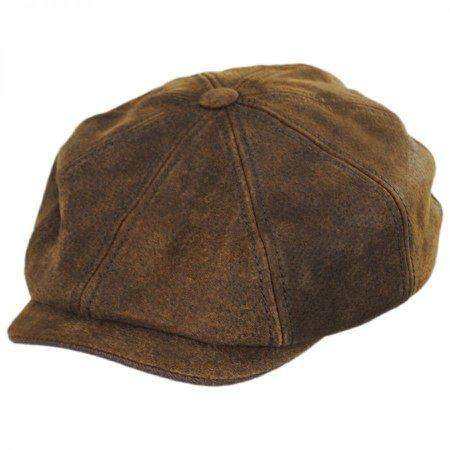 Stetson Pigskin Leather Newsboy Cap Newsboy Caps
